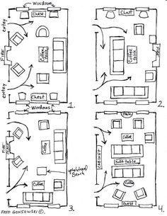 long narrow living room layout | Decorating ideas