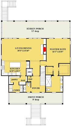 Coastal House Plan with Upper Level Bunk Room - 15218NC   Architectural Designs - House Plans
