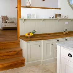 Shaker-style kitchen with oak worktop | Kitchen decorating | Beautiful Kitchens | Housetohome.co.uk