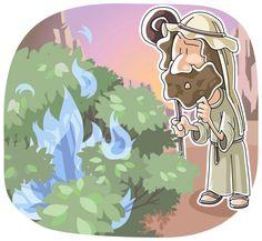 God Calls Moses Through the Burning Bush Sunday School Lesson (Exodus 2:11-4:17)