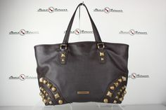 6a59e8f6dc33 $1999 Burberry Nickie Mega Stud Brown Leather Tote / shoulder bag SOLD OUT!  #Burberry #TotesShoppers