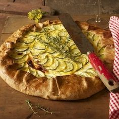zucchini and squash galette with creamy herb ricotta filling