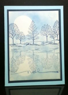 Lovely as a Tree Reflection Technique Debbie Duval Stampin' Up