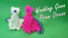 Rainbow Loom Charms: Wedding Gown or Prom Dress Design (DIY Mommy)