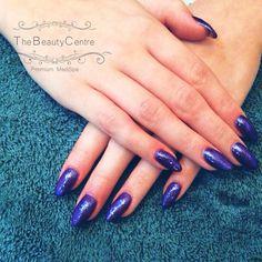 Gel extension  #nails #glitter #glitternails #polish #nailfashion #fashion #manicure #instanails #purple #the #beauty #centre #braintree #essex