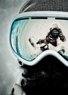 Crazy skiing picture. :) yes it is 100 degrees outside and I'm pinning about skiing - deal with it