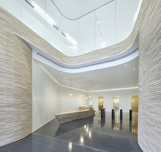 Built by Piercy&Company in London, United Kingdom with date Images by Hufton + Crow. Work has completed on architect Piercy&Company's new building, Turnmill, for developer Derwent London. Office Space Design, Modern Office Design, Modern Interior Design, Modern Offices, Brick Architecture, Interior Architecture, Commercial Design, Commercial Interiors, Elevator Lobby