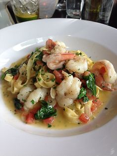 Shrimp and Lobster Pasta from Volterra in Kirkland, WA