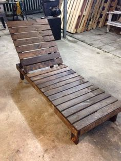 Pallet Outdoor Furniture Pallet lounge chair patio furniture by reusereclaimsustain on Etsy Pallet Furniture Designs, Pallet Patio Furniture, Outdoor Furniture Plans, Pallet Designs, Diy Furniture, Pallet Ideas, Garden Furniture, Patio Plans, Rustic Furniture