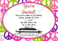 Sunset hummer limo sixteenth birthday sweet sixteen and party peace limo birthday invitations set of 10 with envelopes stopboris Image collections