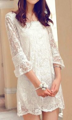Simple lace dress to wear after.