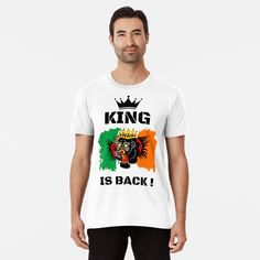 #thekingisback #conormcgregor #ufc #mma #findyourthing #shirtsonline #trends #riveofficial #favouriteshirts  #art #style #design #shopping #redbubble #digitalart #design #fashion #phonecases #customproducts #onlineshopping #accessories #shoponline #onlinestore Conor Mcgregor, Ufc, Tshirt Colors, Looks Great, Fitness Models, Shirt Designs, King, Trends, Mens Tops