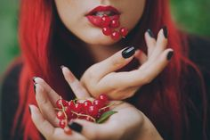 Red berries and YSL lipstick.  Picture shot by Sanni Pasuri Photography