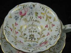 Stunning Early Victorian CUP Saucer William Hudson 1844 | eBay