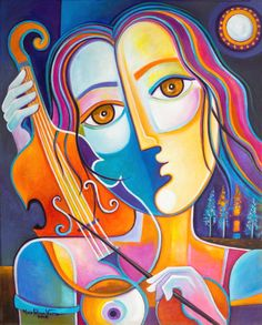 Music in the soul can be heard by the universe - Lao Tzu  This is an Original Oil Painting by Marlina Vera. The Painting is signed in front and back. Includes a hand-signed Certificate Of Authenticity by Marlina Vera.  TITLE : Woman Violinist   SIZE: 21 x 17 x 3/4  PRICE: $550  MEDIUM: Oil on canvas. Black border it is not part of the painting. Picture may not be to scale  SHIPPING: $25.00 via FEDEX ground . International Shipping cost is $65.00  PAYMENT METHODS: PayPal is the preferred…