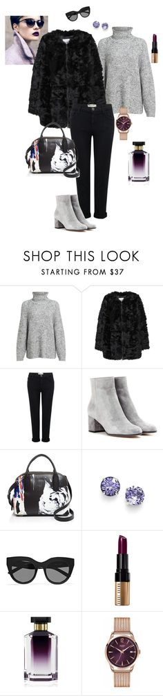 """Faux fur"" by ulusia-1 ❤ liked on Polyvore featuring Alexander Wang, MANGO, Current/Elliott, Gianvito Rossi, DKNY, L. Erickson, Le Specs, Bobbi Brown Cosmetics, STELLA McCARTNEY and Henry London"