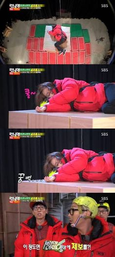 Song Ji Hyo falls asleep in a precarious position on 'Running Man' - Love this ep da best!