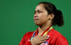 Philippines' Hidilyn Diaz competes in the 53kg weightlifting event at the Rio 2016