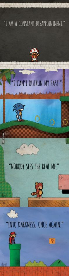 Depressed video game characters