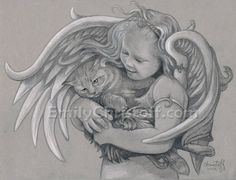 8 x 10 original drawing.  Sophia's Angel by EmilyChristoff on Etsy, $130.00