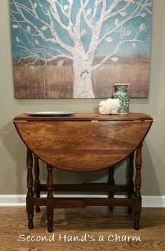 Two Identical Hall Tables Made From One Old Maple Dining Table Simple Maple Dining Room Table Decorating Design