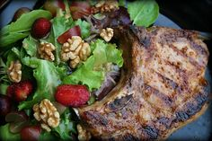 Sweet Peach and Mustard Grilled Pork Chops