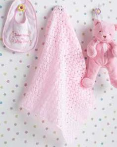 This sweet baby blanket makes the perfect gift for the new arrival. Measures approximately 30in (76 cm) square. Shown in Bernat Baby Pink (#00469), crochet using size 4 mm (U.S. G or 6) hook.