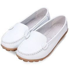 Brand: NoDescription: Shoe Type: Flat Shoes Toe Type:Round Toe Closure Type: Slip On Heel Type:Flat Heel Height: 3cm Gender: Female Occasion: CasualSeason: Spring Summer Autumn Color: White Brown Mate