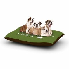 """Busy Bree """"Good Idea"""" Green Tyopgraphy Dog Bed"""