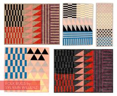 Folk Rug Collection by Sylvain Willenz