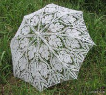 50 Original Lace Decor Ideas for Outfits and Accessories - Livemaster - original item, handmade Crochet Doilies, Crochet Lace, Crochet Stitches, Crochet Patterns, Lace Umbrella, Lace Parasol, Freestanding Lace Embroidery, Gilet Crochet, Umbrellas Parasols