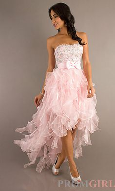 High Low Ruffle Dress at PromGirl.com : except shorter in the front, longer in the back. $270