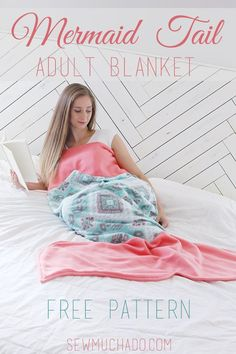 Use this Adult Mermaid Tail Blanket Free Pattern to sew a cozy fleece mermaid tail, guaranteed to keep you cozy all year long!