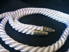 Weiße Handfasting Cord  seidig twisted cording von NamasteFreund