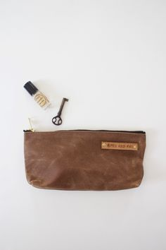 Medium Waxed Canvas Pouch. Living EssentialsWaxed CanvasCasual BagsBohemian  ... 17d9306bcd3bc