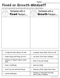 Do your students have a growth mindset or a fixed mindset? Here are some engaging activities for elementary kids. These lessons are designed as a way to foster a Growth Mindset culture in your classroom with your students. Also Included are bulletin board Growth Mindset Lessons, Growth Mindset Classroom, Growth Mindset Activities, Growth Mindset Display, Growth Mindset For Kids, Classroom Rules, Classroom Ideas, Social Emotional Learning, Social Skills