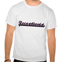 Receptionist Classic Job Design T Shirt, Hoodie Sweatshirt