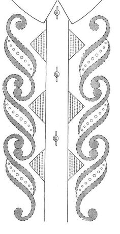 I like the scroll work Embroidery Neck Designs, Embroidery Suits Design, Embroidery Dress, Applique Designs, Embroidery Patterns, Machine Embroidery, Ribbon Embroidery, Thread Painting, Fabric Painting