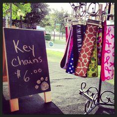 Key chain display www.streetthread.etsy.com