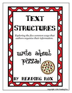 This activity reviews the five common text structures that authors use and then gives students a chance to write their own brief paragraphs demonstrating their knowledge.Scaffolded with a sample paragraph and signal words, this higher ordered thinking activity can be used independently, in small groups or with partners.