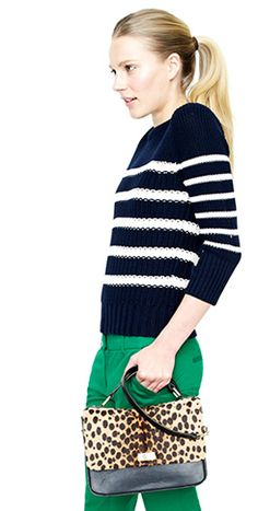 Stripes and green pants weren't on backorder...I want to wear them!!