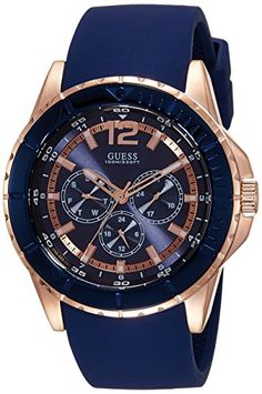 Looking for GUESS Men's Comfortable Rose Gold-Tone & Blue Silicone Multi-Function Watch ? Check out our picks for the GUESS Men's Comfortable Rose Gold-Tone & Blue Silicone Multi-Function Watch from the popular stores - all in one. Stylish Watches, Casual Watches, Cool Watches, Watches For Men, Guess Watches, Women's Watches, Mens Watches Online, Seiko Men, Hand Watch
