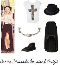 """""""Perrie Edwards Inspired Outfit"""" by kz-serafin ❤ liked on Polyvore"""