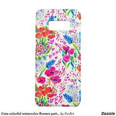 Cute colorful watercolor flowers pattern Samsung Galaxy S8 case