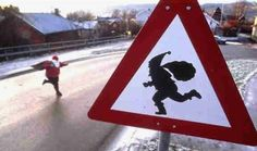 Santa Claus Crossing Road Sign