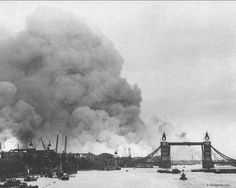 London, England after Germany began to brutally bomb its civilian  population. WWII.