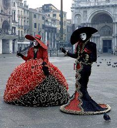 Venice carnival costume, Italy