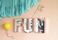 how to make disco-ball-style letters