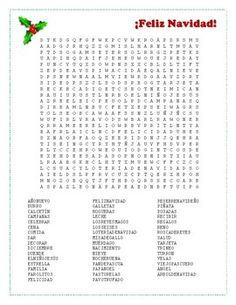 Spanish Christmas Word Search (buscapalabras) | Word search ...