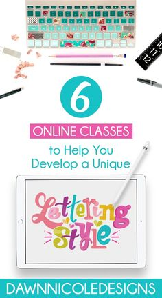 Six Online Lettering Classes to Develop Your Style + Five Tips on How to Find Your Unique Hand-Lettering Style. Plus, a special offer from my friends at Skillshare! Hand Lettering For Beginners, Hand Lettering Styles, Hand Lettering Practice, Hand Lettering Tutorial, Brush Lettering, Dawn Nicole, Online Art Classes, Inspiration, Hand Writing